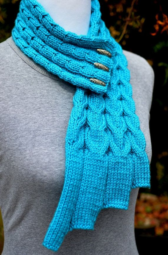 Knitting Pattern Only - Waterfall Cables Scarf   Pinterest