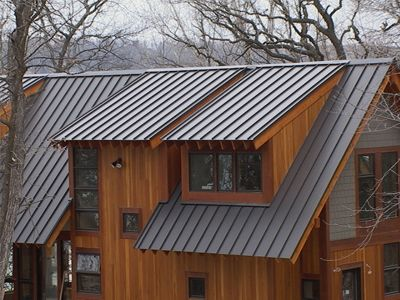 Standing Seam Metal Roof Darker Grey Roof Roof Ideas
