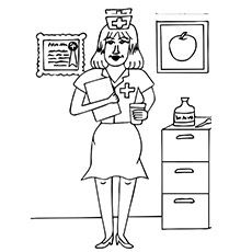 Top 25 Free Printable Nurse Coloring Pages Online Coloring Pages