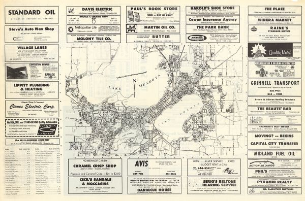 The Sun Map Of Madison Madison Map Standard Oil Madison