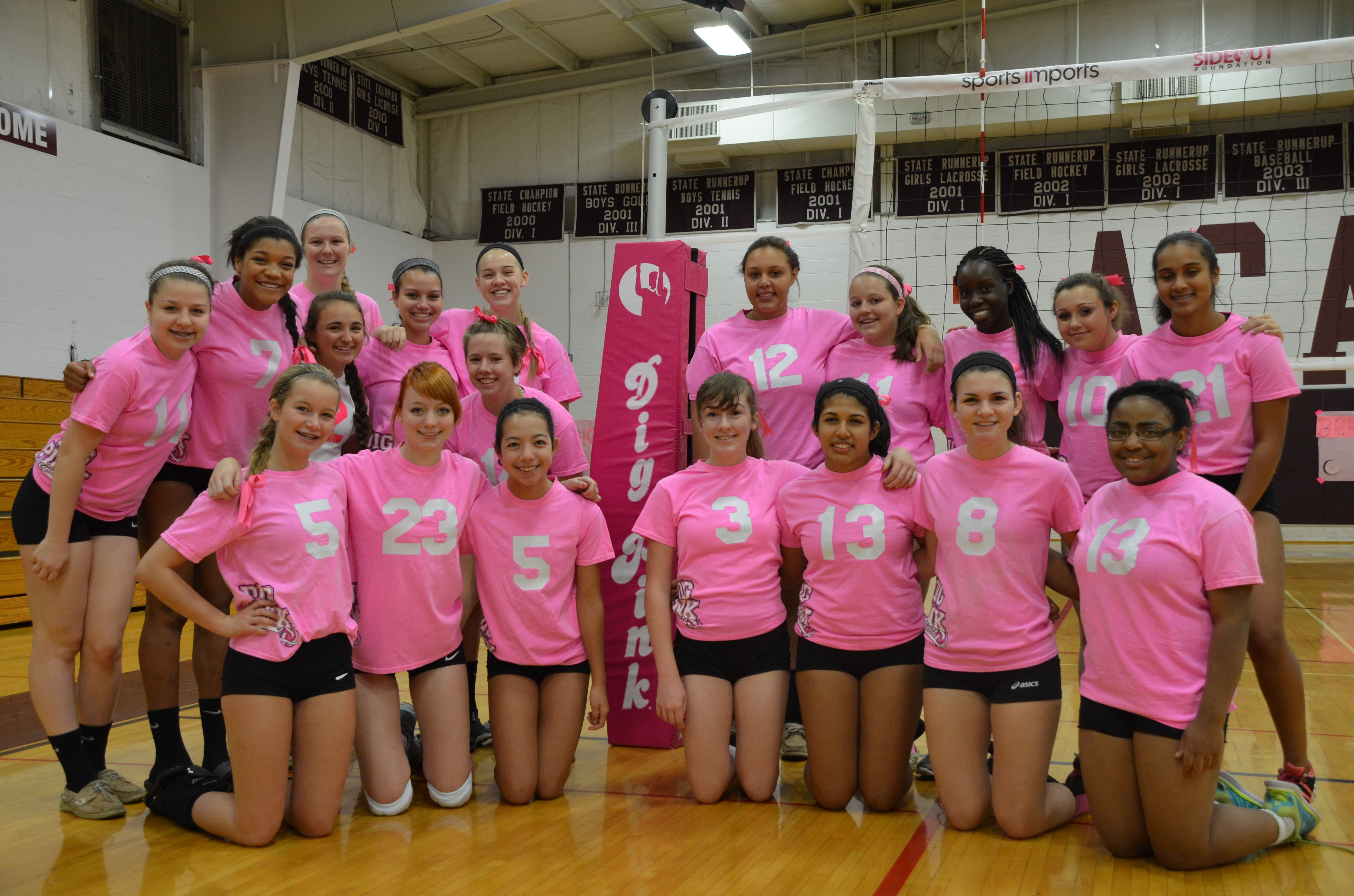 The Sideout Foundation Dig Pink At Columbus Academy High School In Columbus Ohio Coaching Volleyball Volleyball Net Usa Volleyball
