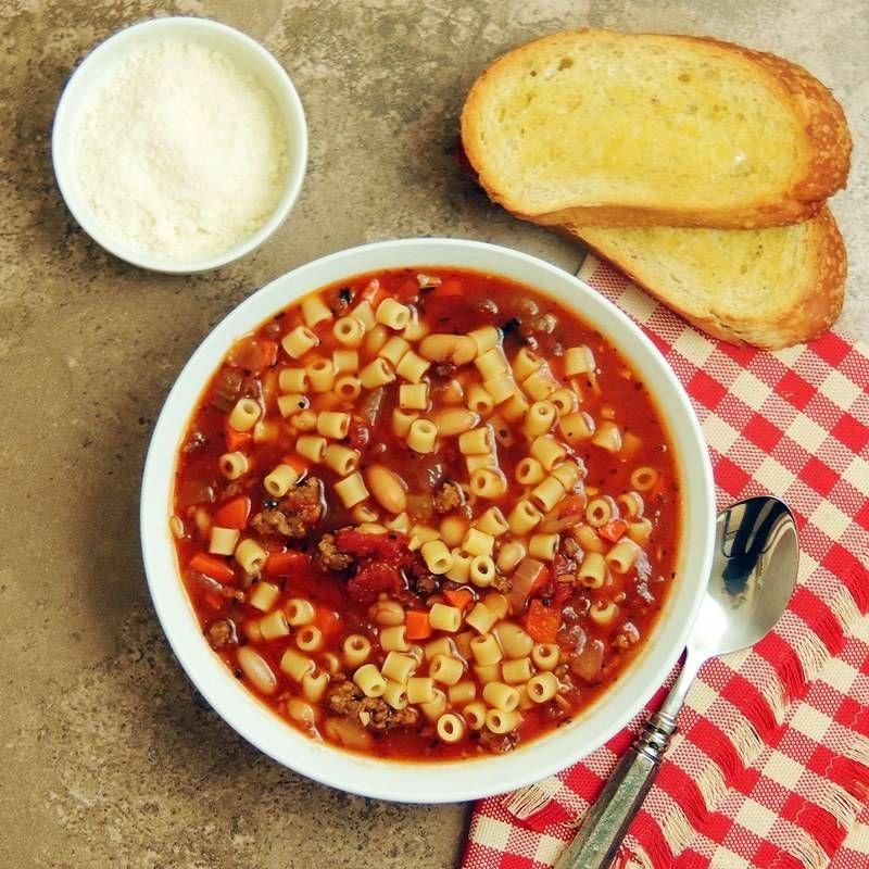 Olive Garden Pasta e Fagioli Copycat Slow cooker pasta