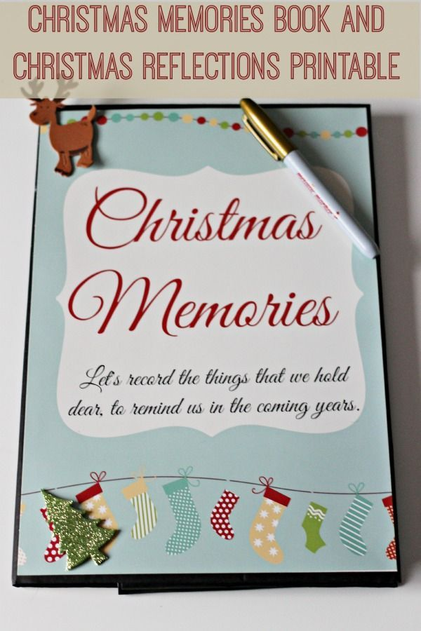 christmas memories book and christmas reflections printable mum in the madhouse - Christmas Memories Book