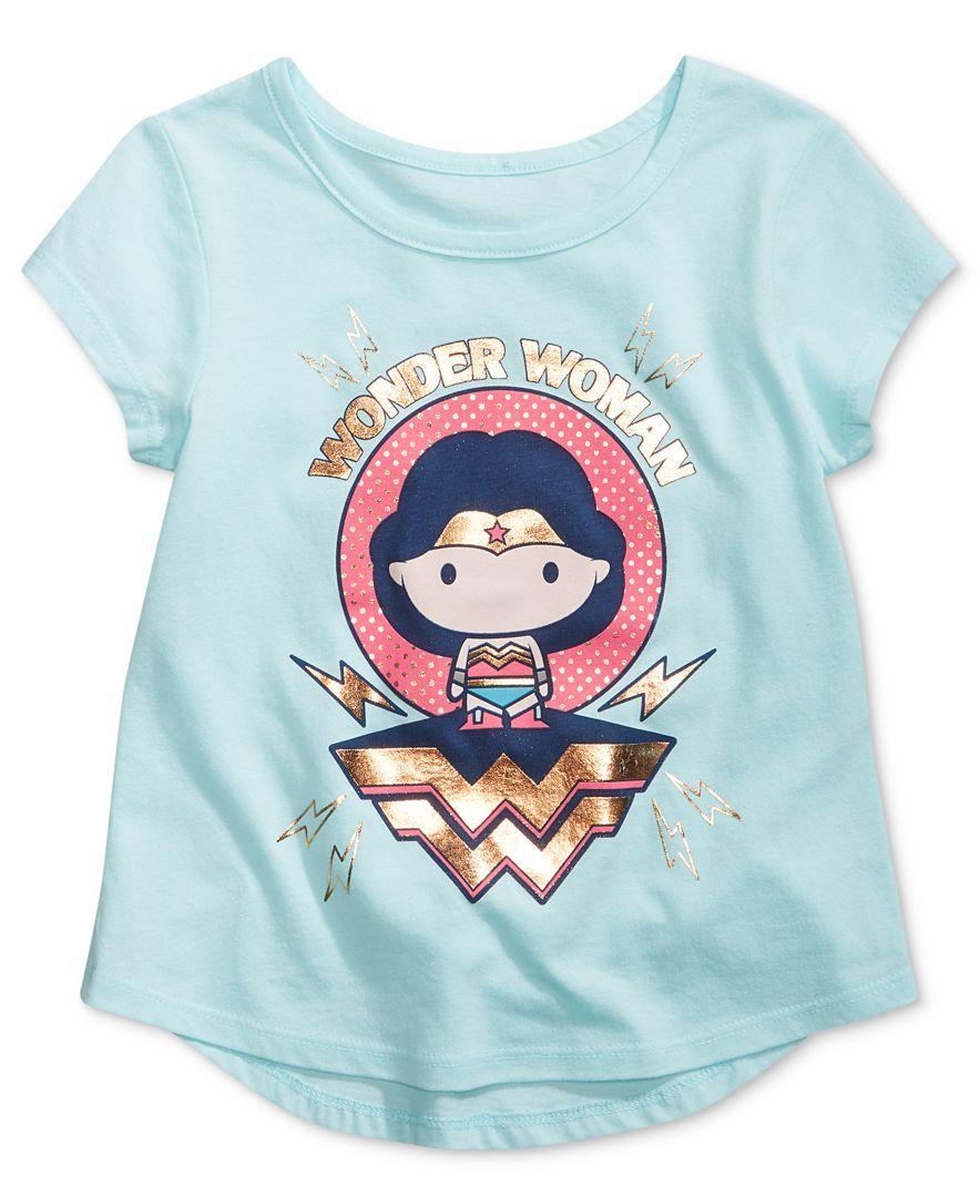 1adeccd2d Dc Comics Wonder Woman Graphic-Print Cotton T-Shirt, Toddler & Little Girls  (2T-6X)