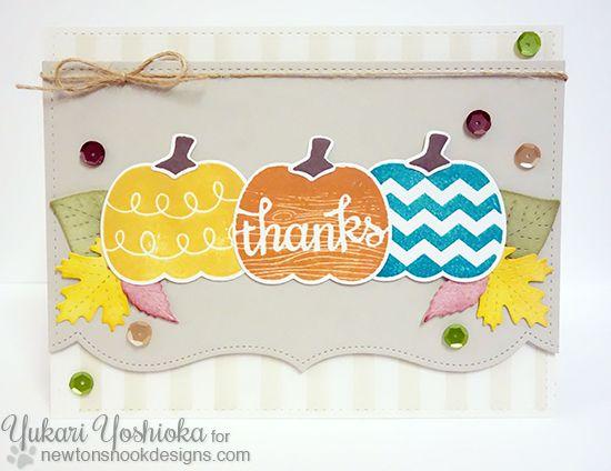 Pumpkin Thank You Card By Yukari Yoshioka Pick A Pumpkin Stamp Set