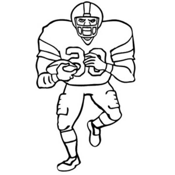 American Footbal Player In Nfl Coloring Page Color Luna Di 2020