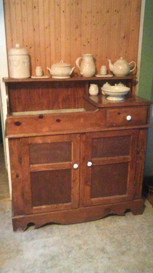 1800 Dry Sink Cabinet Server Antique Furniture Sinks Units