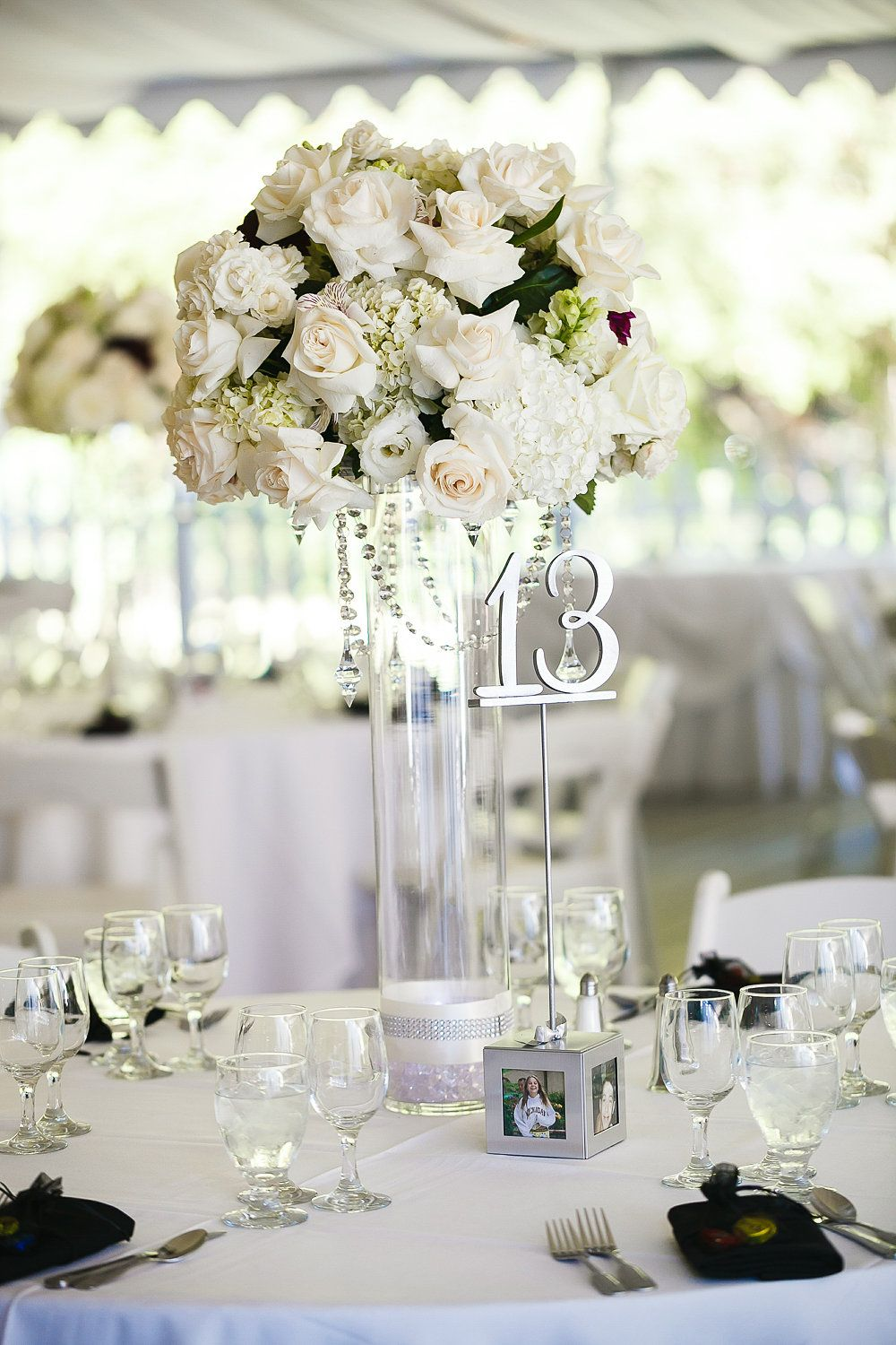 Romantic Wedding Centerpiece. Flowers by Charmaine\'s Bouquet Canyon ...