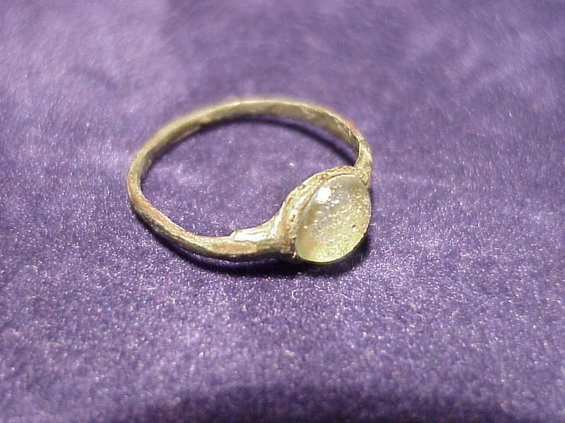 Ancient Scythian Ring with Glass Gem