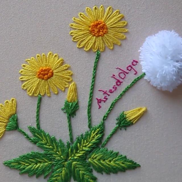 Lazy Daisy SunFlower And Carnation Flower Embroidery – #Carnation, #Daisy, #Embr…