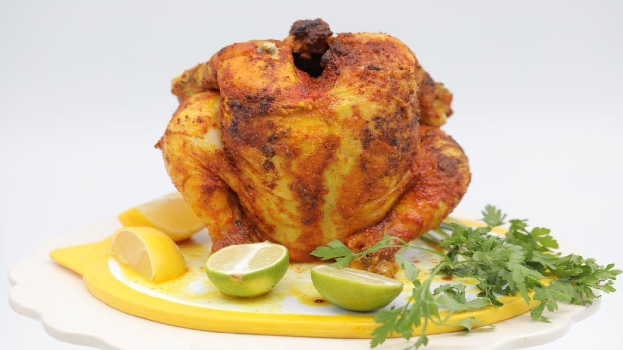الدجاج المشوي بدون شواية وبطريقة سهلة للشوي على الزجاجة أو فى قالب الكيك Food Turkey Meat