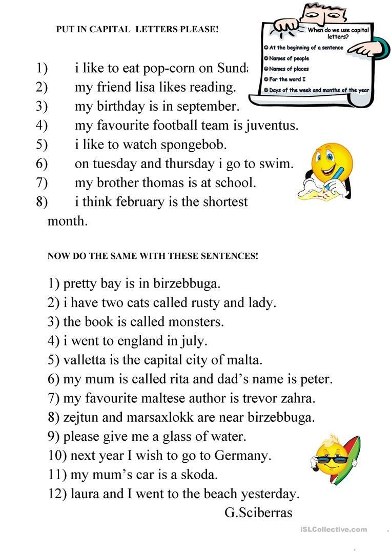 small resolution of 18 Capital Letters Worksheet   Capital letters worksheet