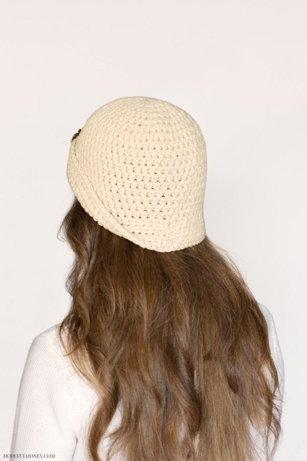 1920\'s Great Gatsby Inspired Cloche Hat Crochet Pattern | Gorros ...