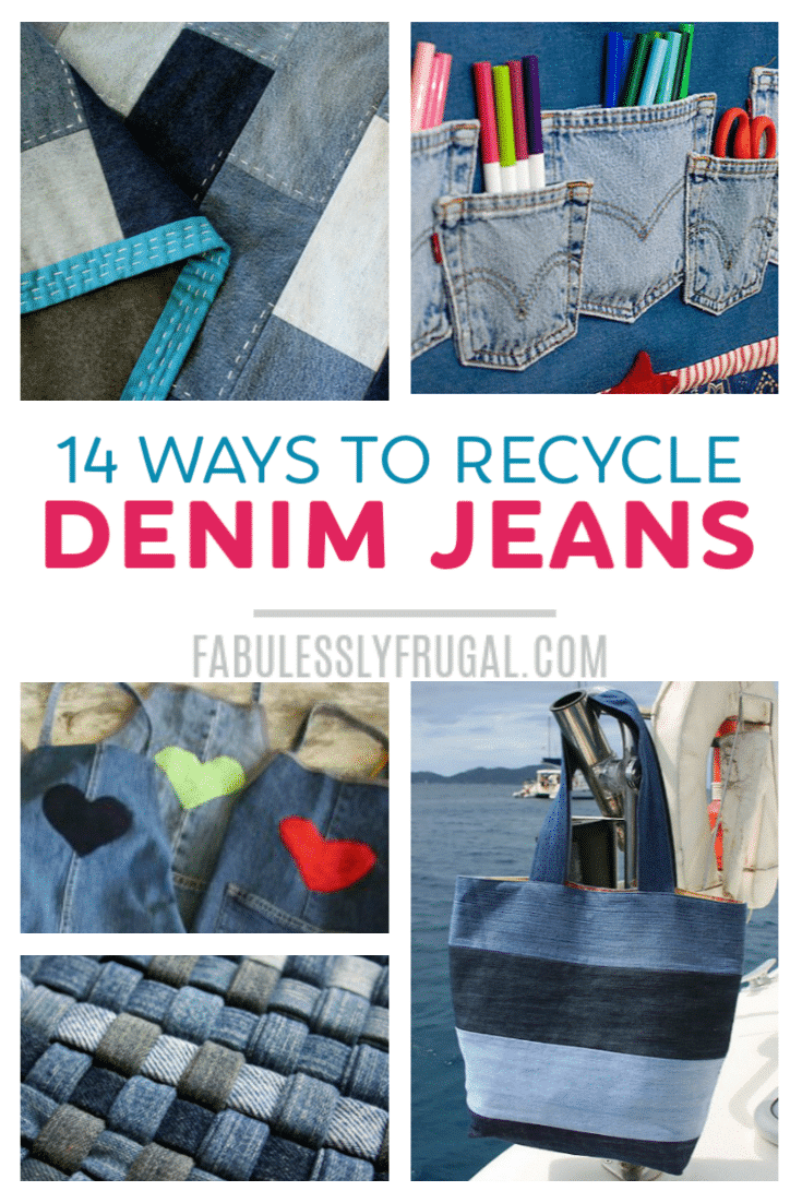 How To Recycle Old Jeans 15 Easy Craft Ideas Denim
