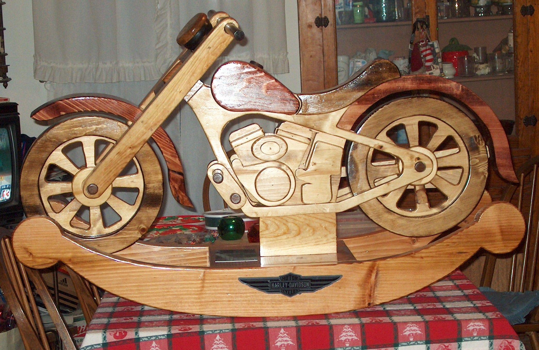grandpa's handmade motorcycle rocker! | so cool | wood toys