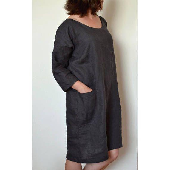 Plus Size Dress Plus Size Linen Dress Linen Dress Linen Kimono