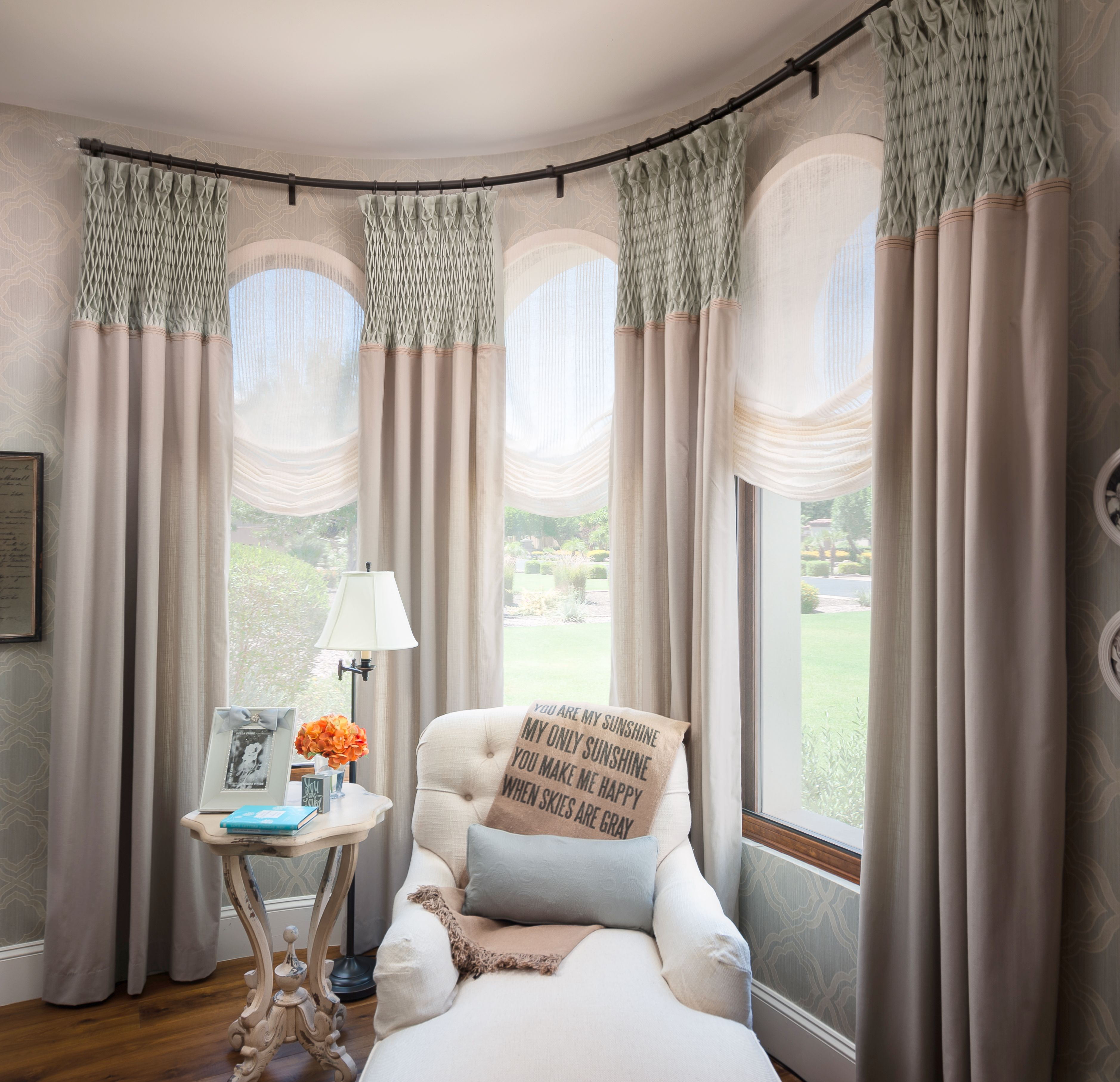 Window treatment ideas for arched windows  workroom specialty windows karen barnes the elegant window