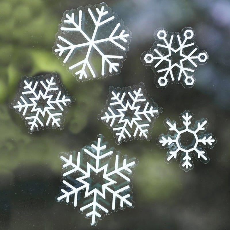 Stickers Noel Vitre Flocons adhésifs pour décorer vos vitres pour les fêtes de Noel