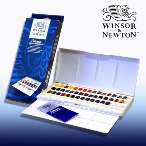 Winsor And Newton Cotman 45 Half Pan Watercolour Set Ebay