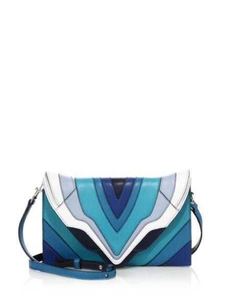 339cbec1d2 Elena Ghisellini - Selina Small Multicolor Leather Clutch Leather Crossbody  Bag