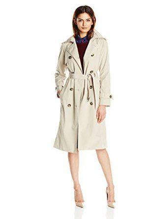 2f2411f097b Amazon.com  London Fog Women s Midi-Length Trench Coat  Clothing ...