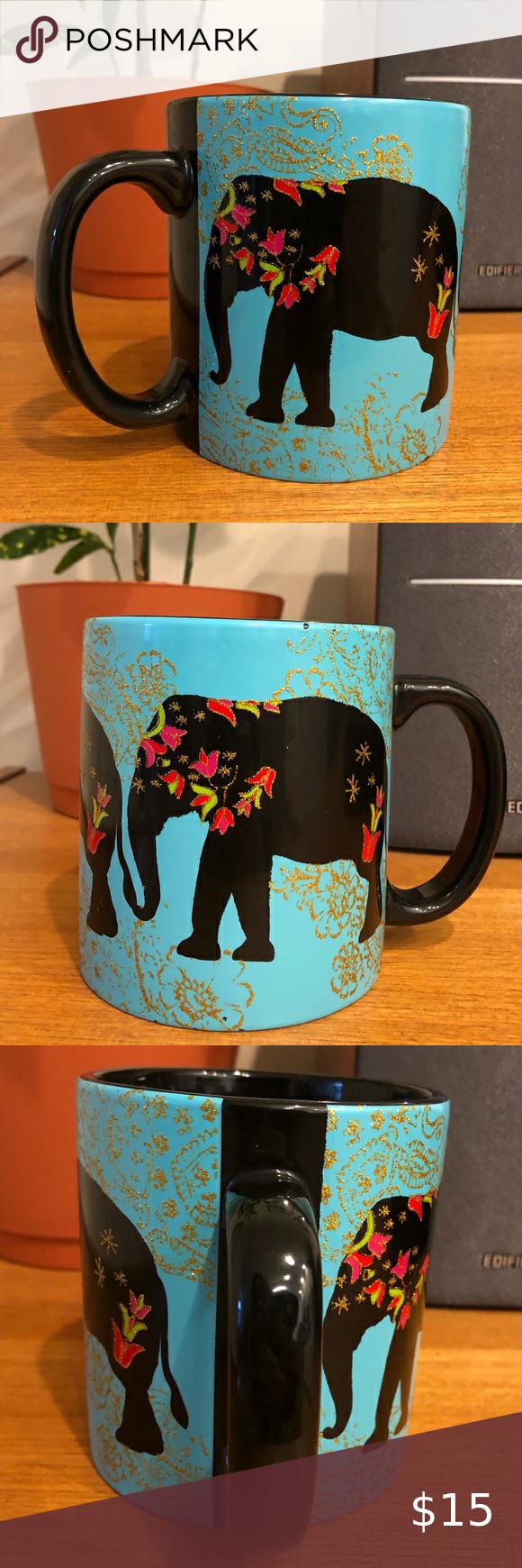 Boho Indian Elephant Coffee Mug in 2020 Painted indian