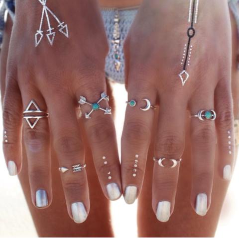 Boho Jewelry Fashion Knuckle Bague rings Set Flèche Anneau Midi Bagues