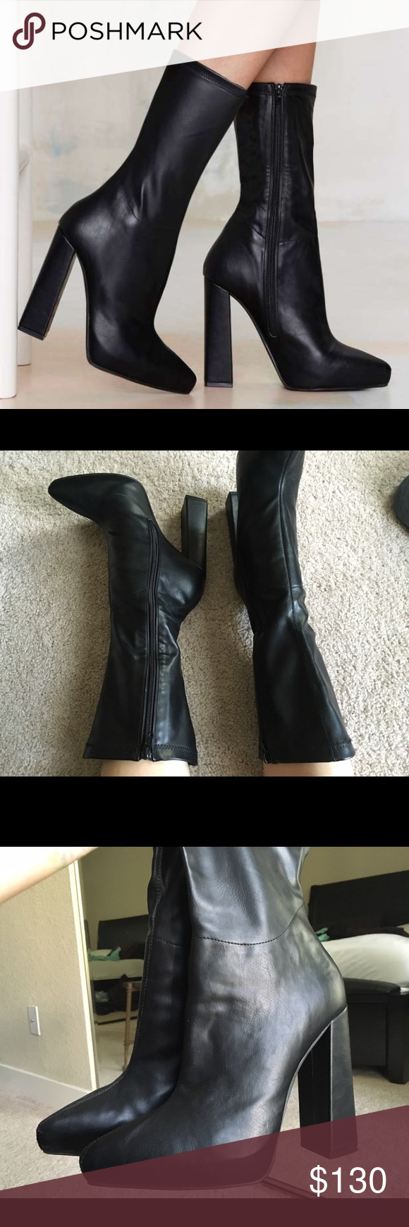 c6ac23eb0fca Jeffrey Campbell Isolate Platform Boot Like new condition. Worn once for a  Christmas party.