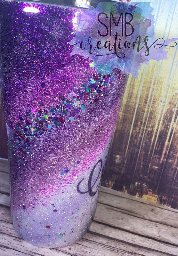 5501c3d6c69 Unicorn Horn Purple Swirl tumbler - Twist - Glitter tumbler - YETI - Ozark  - Glitter Dipped - Sparkl