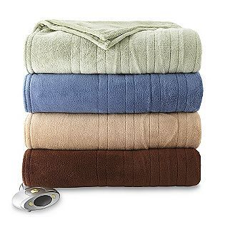 Cannon Micro Plush Heated Blanket Queen Heated Blanket Plush Blanket
