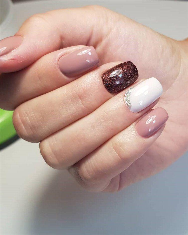 Gel Nail Ideas For Fall Autumn Nail Designs Autumn Fall Nail Colors Acrylic Nails Designs For Fall Nailart Nai Classy Nail Designs Gel Nails Classy Nails