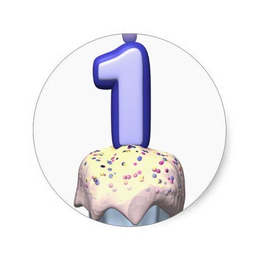 Babys First Birthday Round Sticker