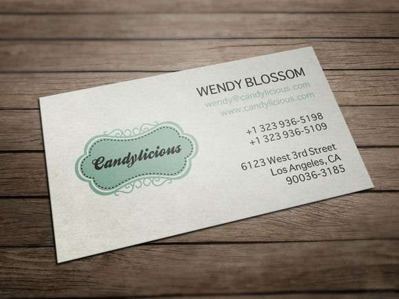 Vintage candy store business card template preview 1 fg 580435 vintage candy store business card business card templates on creative market reheart Gallery