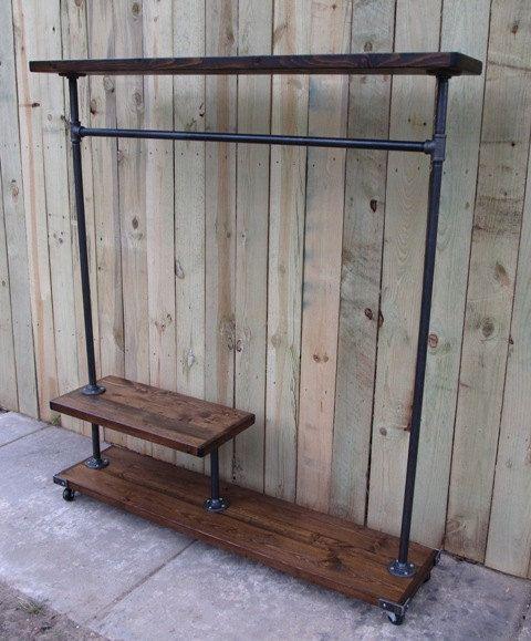 reclaimed wood clothing rack garment rack by. Black Bedroom Furniture Sets. Home Design Ideas