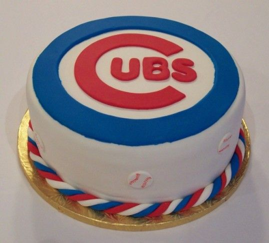 Chicago Cubs Cake Decorations Cubs Cake Chicago Cubs Cake