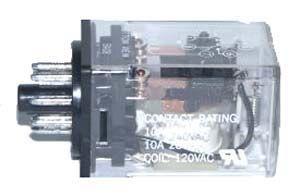 Selecta SR67S215A4 - DPDT, 24VAC Coil, 10 Amp Relay