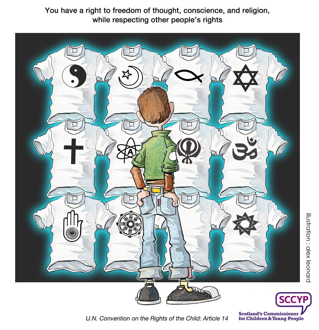 Article 14 Children S Rights Rights Respecting Schools Young People