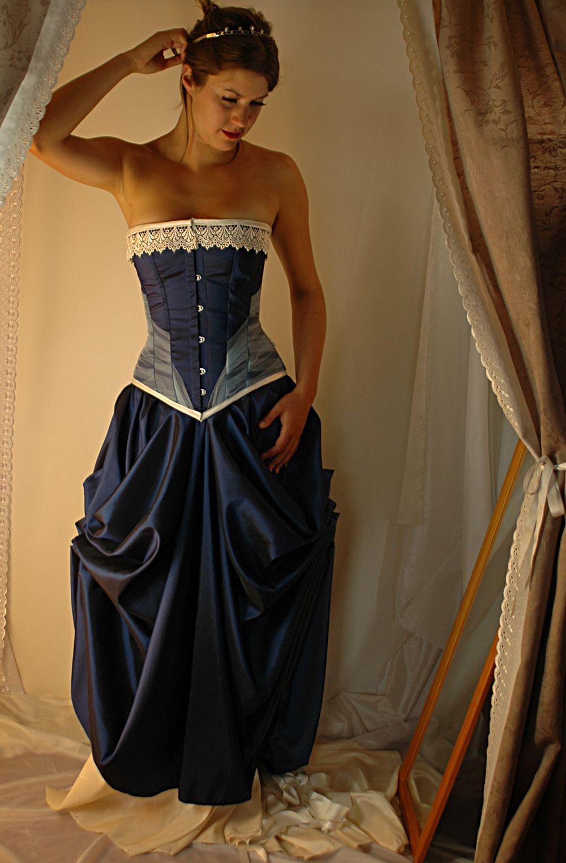 midnight blue corset gown | Burlesque | Pinterest | Blue corset ...