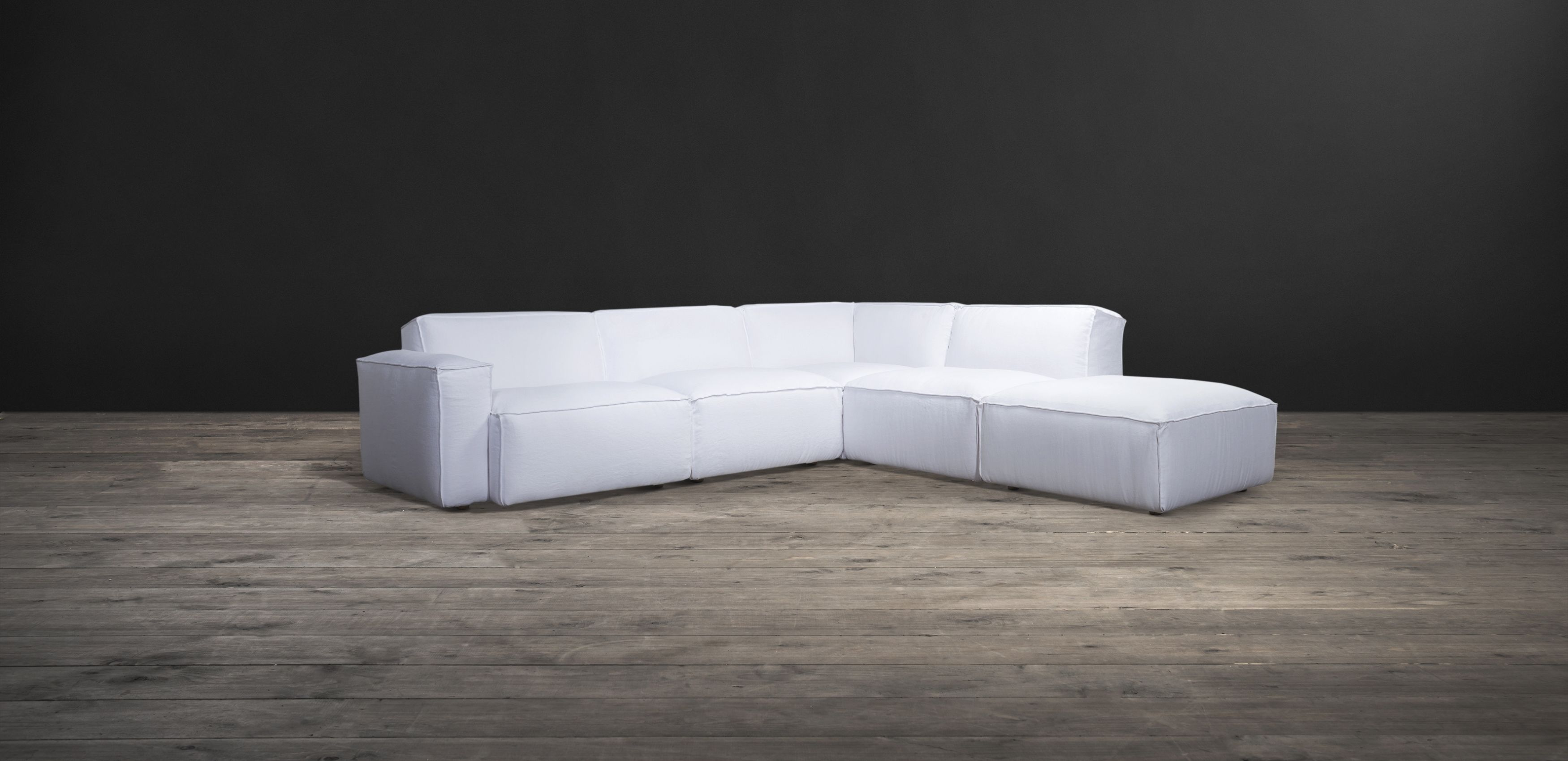 Nirvana Medium Sectional Sofa White Sectional Sofa Sectional Sofa Fabric Sectional Sofas