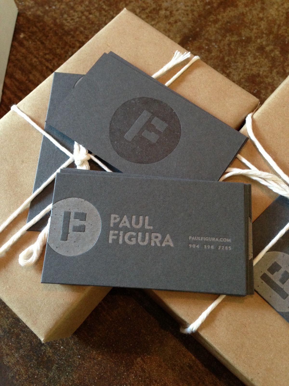 paul figura letterpress business card design