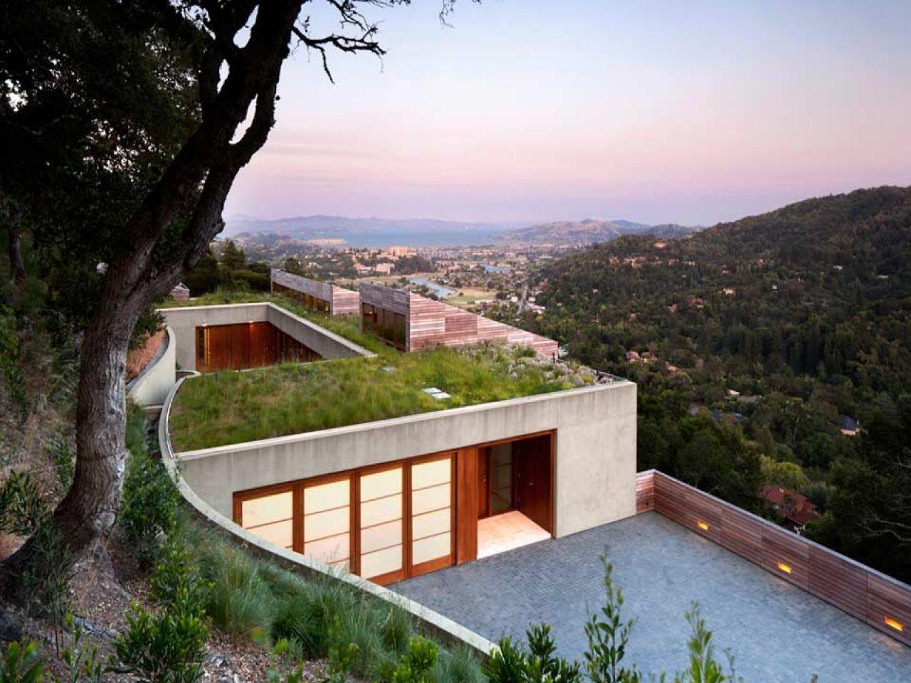 Steep Slope Home Design -steep-hillside-house-plans