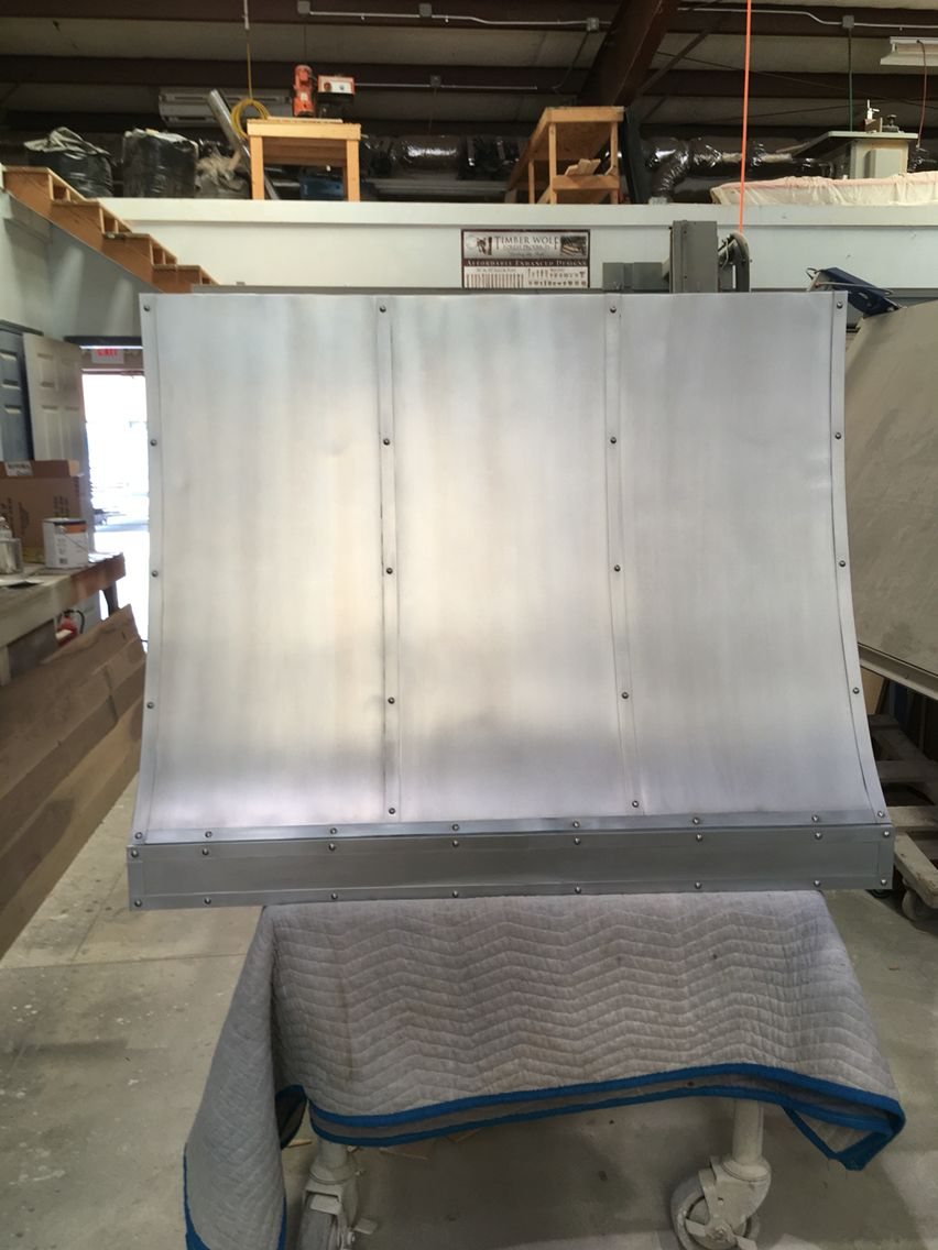 48 Zinc Sheet Metal Vent Hood With Straps And Nail Heads Zinc Sheet New Homes Simple Furniture