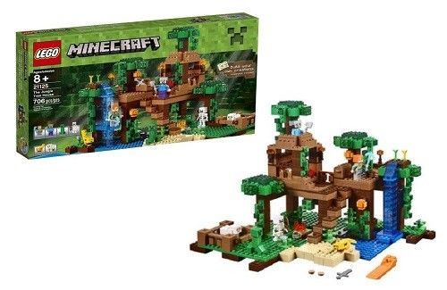Lego Minecraft The Jungle Tree House Minifigures Building