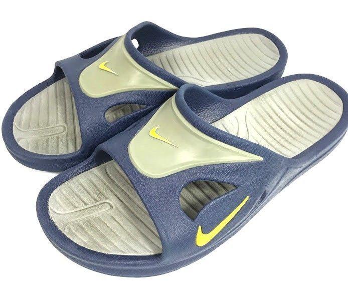 f2bef721d0a75 Nike Mens Sport Slide Sandals Athletic Blue Gray Rubber Size US 11 Slip On  Shoes  Nike  Slides
