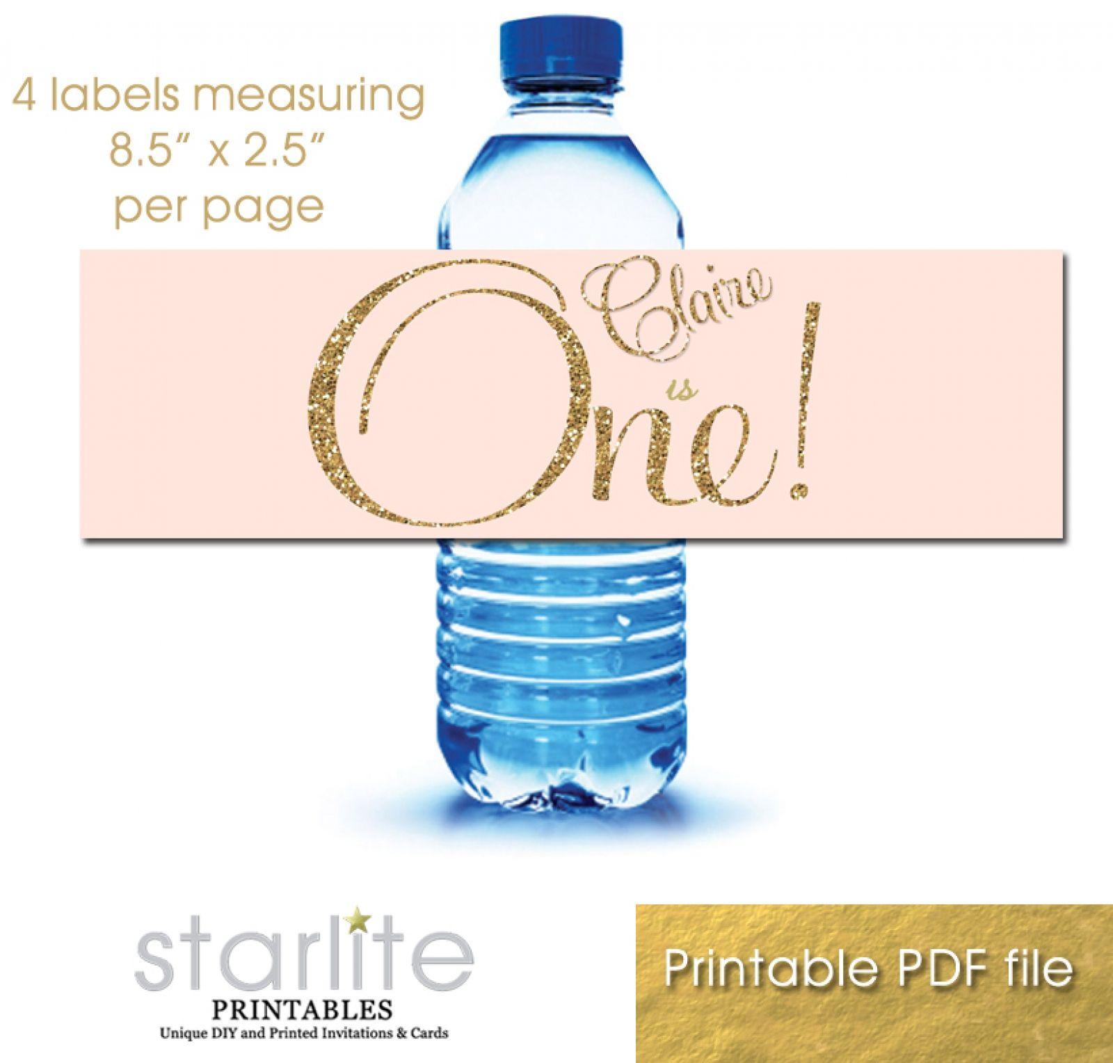diy water bottle labels template