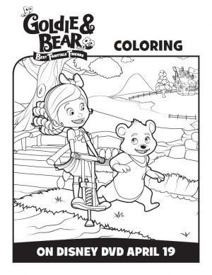 Disney Junior Goldie And Bear Coloring Pages Activity Sheets Bear Coloring Pages Coloring Pages Bear Birthday Party