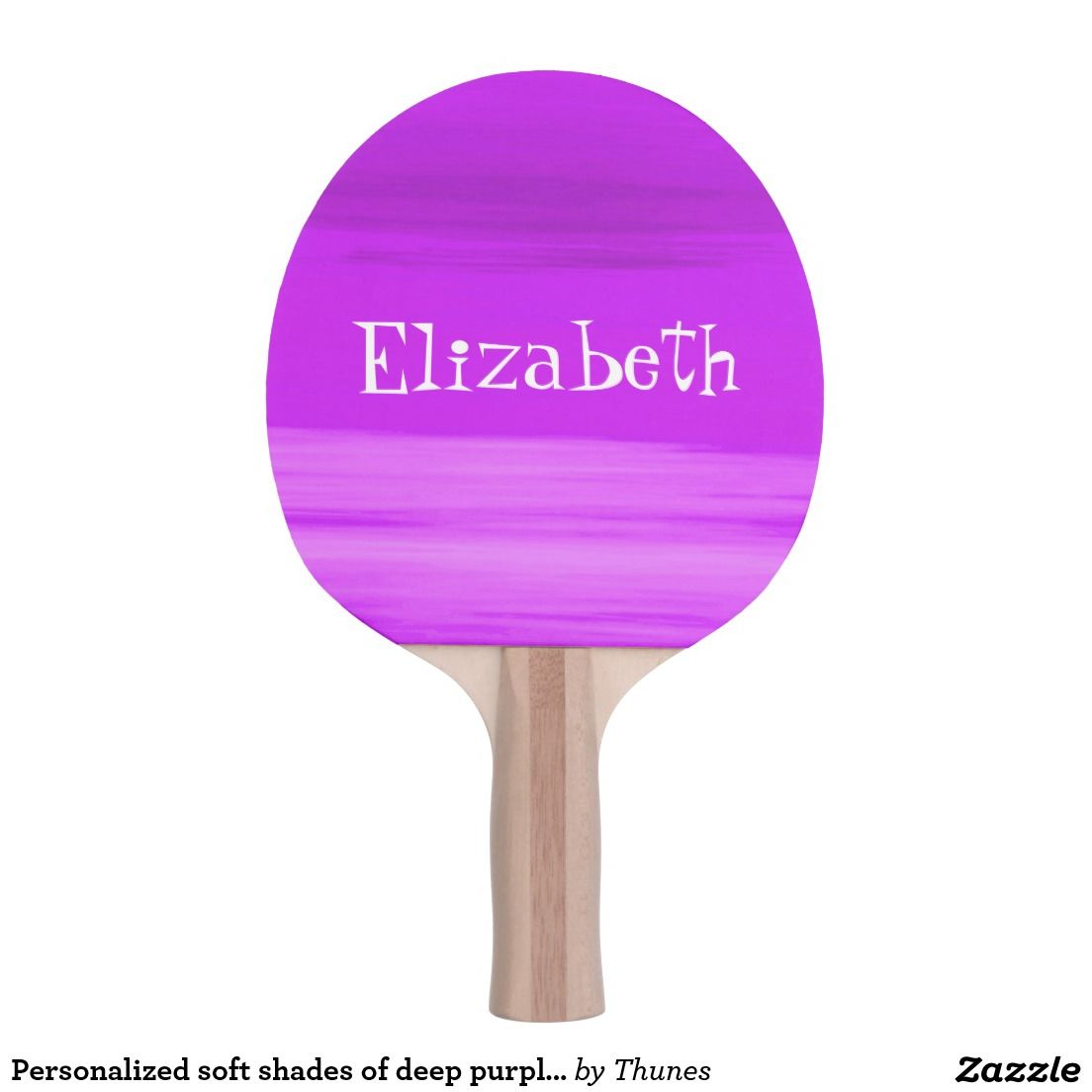 Custom Soft Shades Of Deep Purple Stripes Ping Pong Paddle Table Tennis Add A