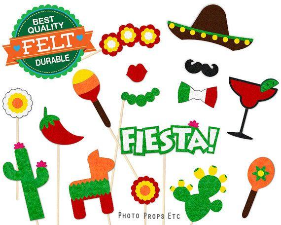 Cinco De Mayo Photo Booth Props Mexico Photobooth Fiesta Felt