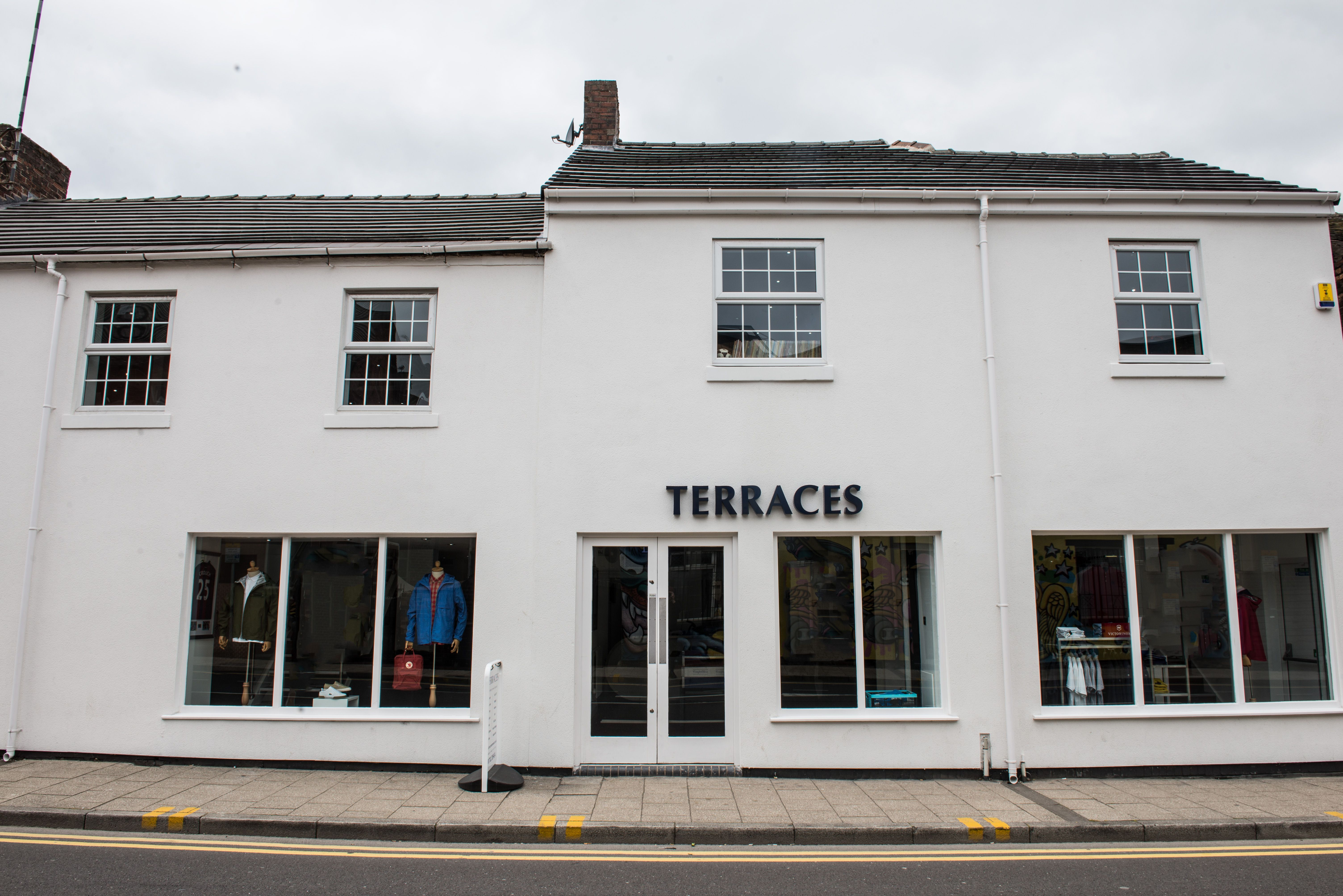 Terraces Menswear flagship store was opened in 2001, in the
