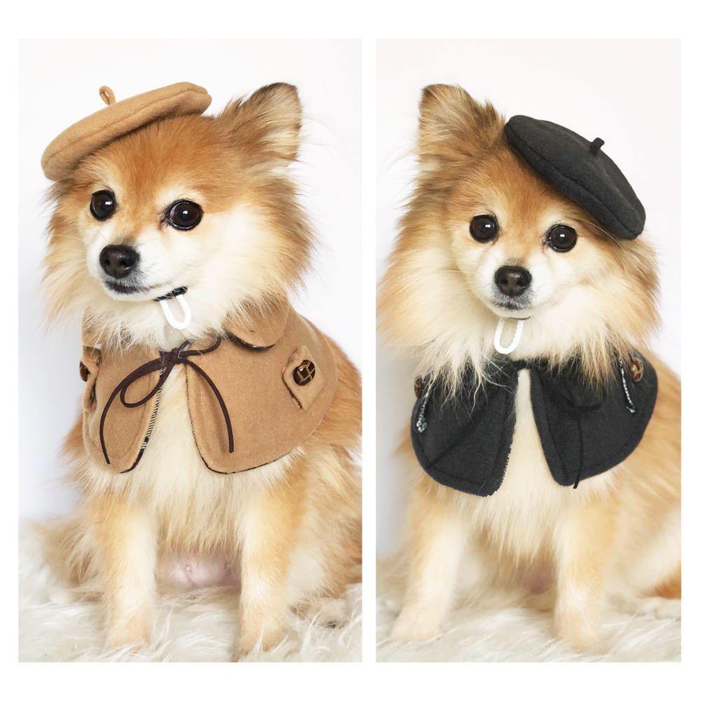 Dogs Beret Cape Set Handmade Dog Hats Dog Caps Baseball Hat